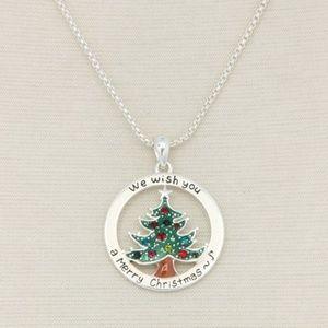 Christmas Tree Pendant Necklace